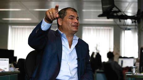 El expresidente ecuatoriano Rafael Correa en una entrevista con AFP en Bruselas, el 4 de julio de 2018.