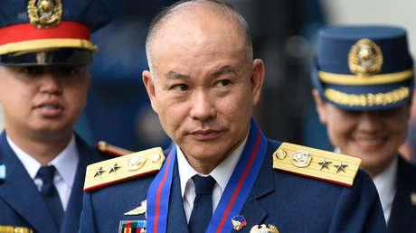 El nuevo jefe de la Policía Nacional de Filipinas, Oscar Albayalde, en Manila, Filipinas, el 19 de abril de 2018.