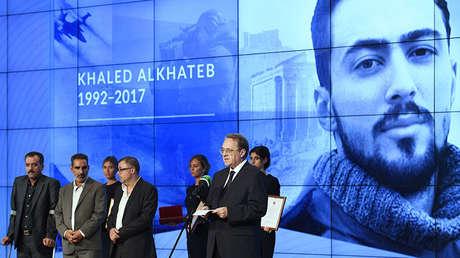 El viceministro de Exteriores de Rusia, Mijaíl Bogdánov, en la ceremonia de entrega de los premios internacionales The Khaled Alkhateb Memorial Awards.