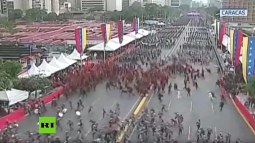 VIDEO: Se registran dos explosiones en pleno discurso de Nicolás Maduro en Venezuela