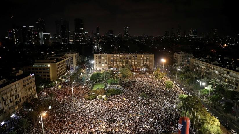 Al menos 50.000 manifestantes protestan en Tel Aviv contra la ley del Estado nacional judío
