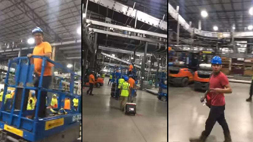 VIDEO: Despiden a unos trabajadores latinos y el resto de compañeros abandona la obra en solidaridad