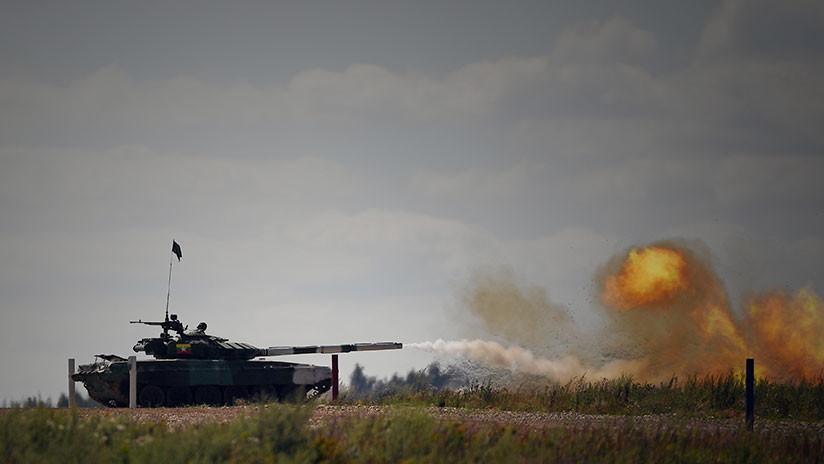 VIDEO: 'Batalla' de tanques en el biatlón de Juegos Militares Internacionales