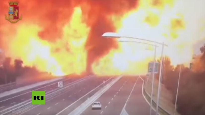 FUERTES IMÁGENES: Momento exacto de la enorme explosión en Bolonia 5b69832fe9180f823f8b4567