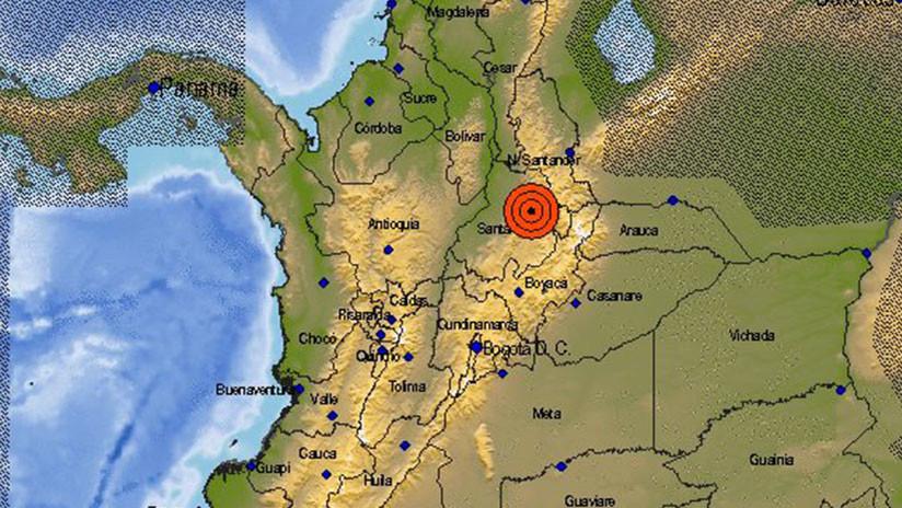 Se registra un sismo de magnitud 5,8 en Colombia