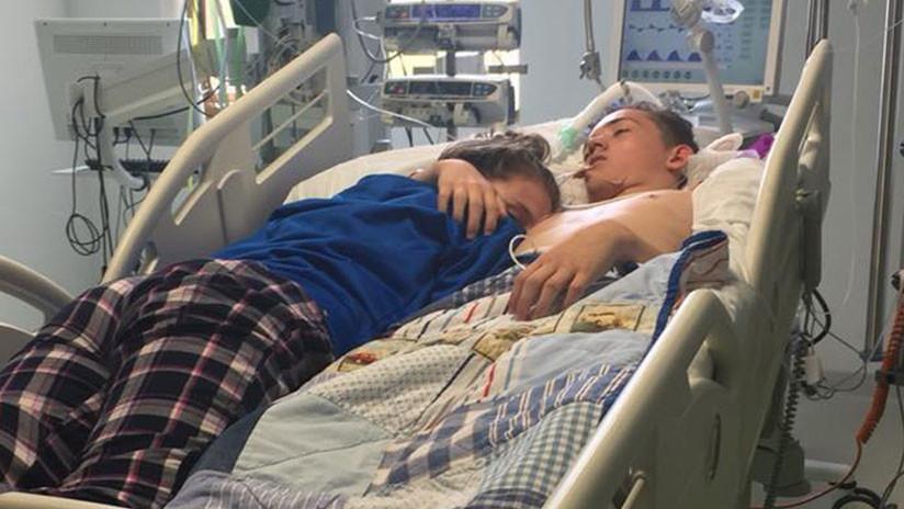 Se despide de su novio en hospital antes que lo desconecten — Facebook