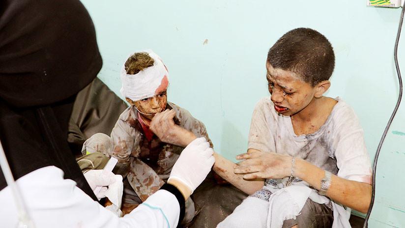 """La coalición de Arabia Saudita llama """"acción legítima"""" el ataque que mató a niños en Yemen (18+)"""