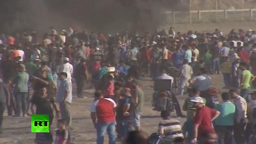 VIDEO Violentas protestas en la frontera de Gaza