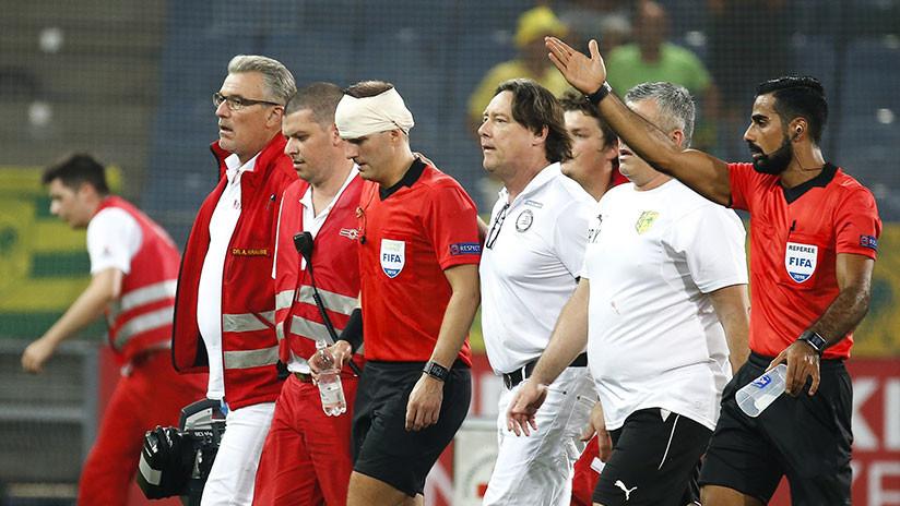 VIDEO: Fuerte agresión a un árbitro obliga a detener un partido de la Europa League en Austria (+18)