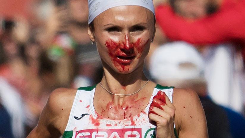 VIDEO: Una atleta gana el maratón del Campeonato de Europa pese a estar sangrando
