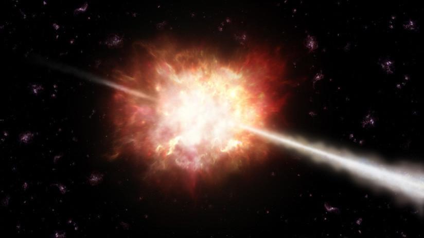 Entender la muerte estelar: Hallan inversión temporal en brotes de rayos gamma