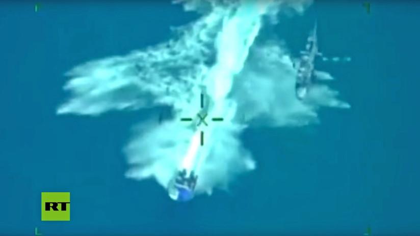 VIDEO: Helicóptero de la Armada de México persigue una lancha con 2 toneladas de cocaína