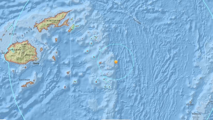 Fuerte sismo de magnitud 8,2 cerca de las islas Fiyi