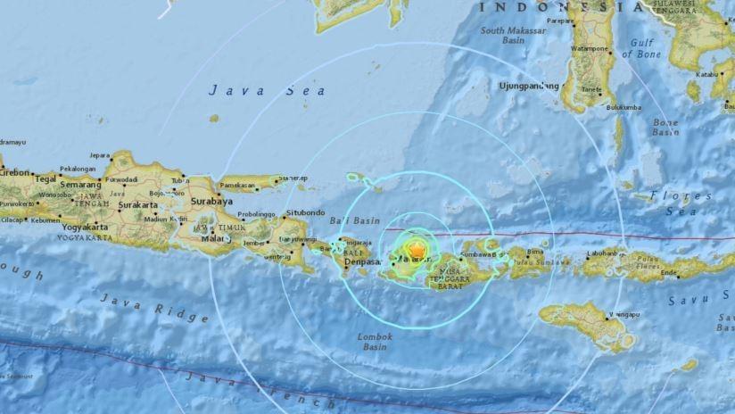 Un nuevo terremoto de 7,2 sacudió a Indonesia