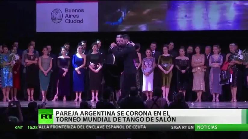 Pareja argentina se corona en el torneo mundial de tango de salón