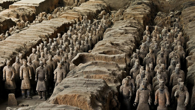 FOTOS: Hallan en China una antigua ciudad con pirámide y vestigios de sacrificios humanos