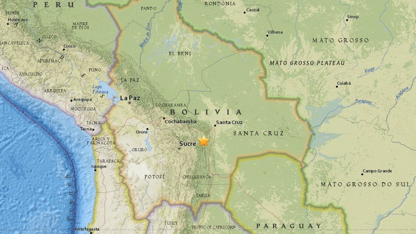 VIDEOS: Un sismo de magnitud 5,0 sacude el centro de Bolivia