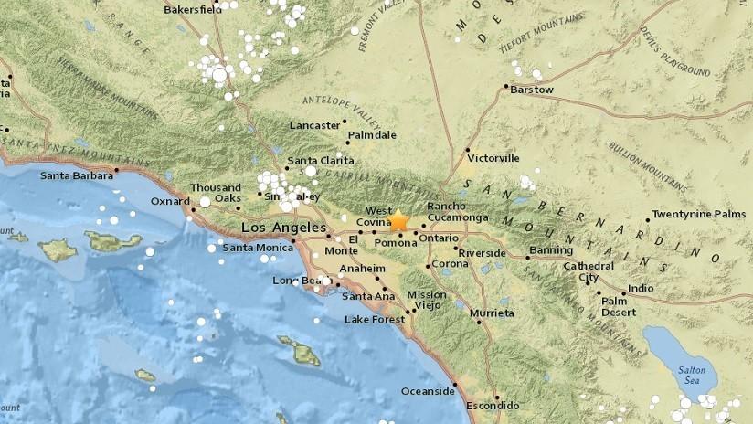 Un sismo de magnitud 4,4 se registra en California