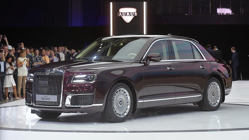Estilo y alta seguridad: Presentan al público en Moscú el lujoso coche presidencial (VIDEO)