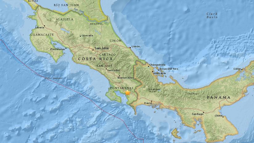 Un terremoto de magnitud 5,4 se registra en Costa Rica