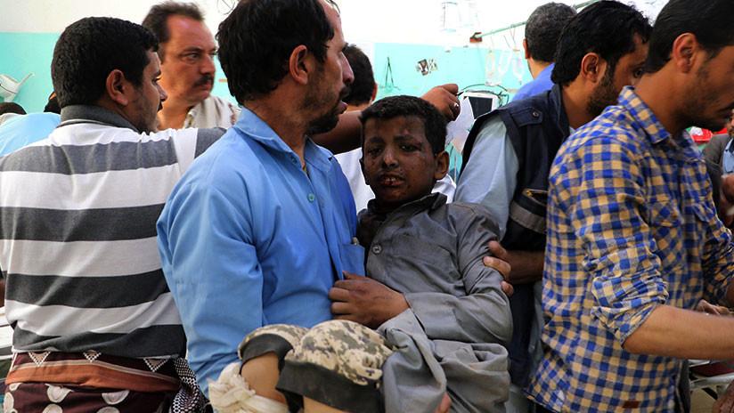 Decenas de niños muertos tras el ataque contra un autobús en Yemen