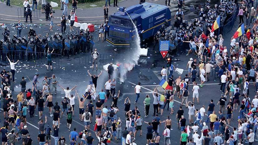 Masivas protestas en Rumanía contra la corrupción del Gobierno