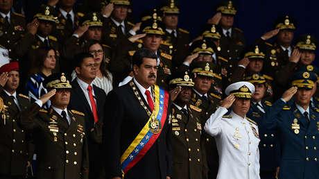 El presidente venezolano, Nicolás Maduro, asiste a una ceremonia para celebrar el 81.° aniversario de la Guardia Nacional en Caracas, 4 de agosto de 2018.