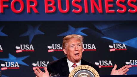 Donald Trump em Hialeah (Flórida, EUA), em 16 de abril de 2018.