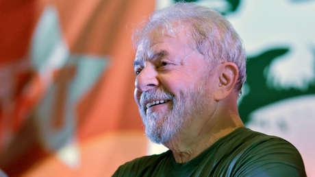 Lula Da Silva durante la celebración de los 38 años del Partido de los Trabajadores. 22 de febrero de 2018.