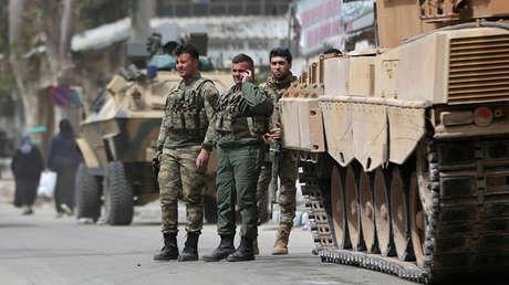 Soldados turcos en Afrín, el 24 de marzo de 2018.