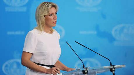 La portavoz del Ministerio de Exteriores ruso, María Zajárova