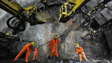 La construcción del túnel para el ferrocarril de alta velocidad Pekín- Zhangjiakou (China), el 2 de noviembre de 2017.