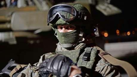 Una muestra del moderno uniforme militar ruso en Moscú, el 12 de septiembre de 2015