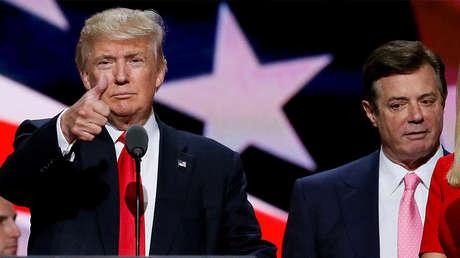 Trump junto a Manafort en la Convención Nacional Republicana en Cleveland, el 21 de julio de 2016.