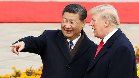 El presidente de EE.UU., Donald Trump, y el mandatario chino, Xi Jinping, en Pekín (China), el 9 de noviembre de 2017.