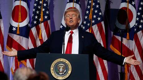 El presidente de EE.UU., Donald Trump. 24 de agosto de 2018.