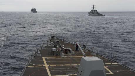 El destructor estadounidense USS Decatur en el mar de la China Meridional, el 17 de octubre de 2016.