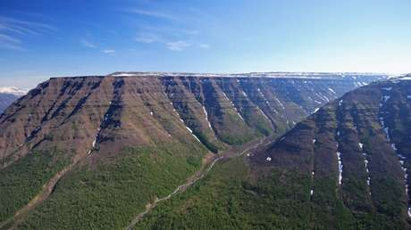 Meseta de Putorana, en Siberia, península de Taimyr