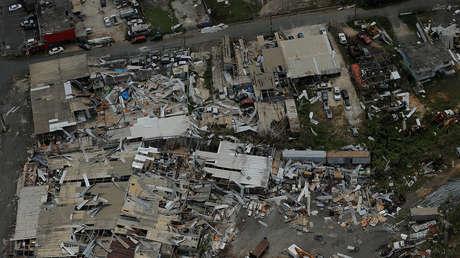 Vista aérea de los destrozos provocados por el huracán María en San José (Puerto Rico). 7 de octubre de 2017.