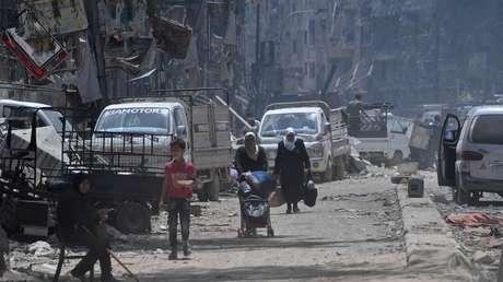 Campo de refugiados de Yarmuk, Damasco, Siria.
