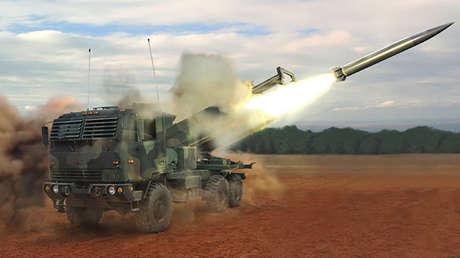 Ilustración del sistema táctico de misiles DeepStrike.