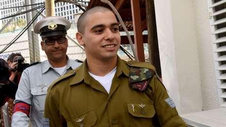 El exsoldado israelí Elor Azaria, Tel Aviv 24 de enero de 2017.