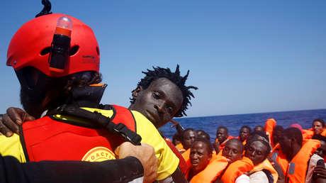 Rescate de inmigrantes en las costas de Libia. 28 de agosto de 2016