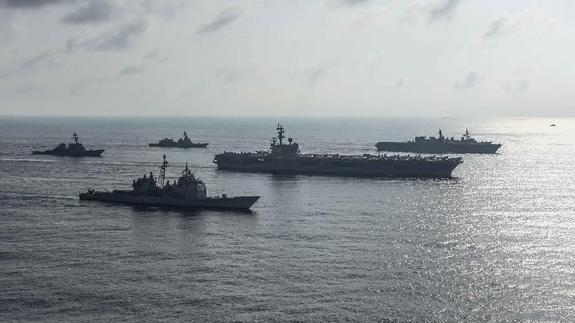 FOTOS: El mayor destructor japonés participa en ensayos con EE.UU. en el mar de la China Meridional