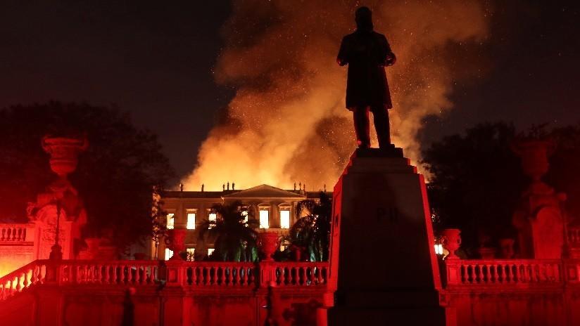 Incendio consume 200 años de la historia de Brasil