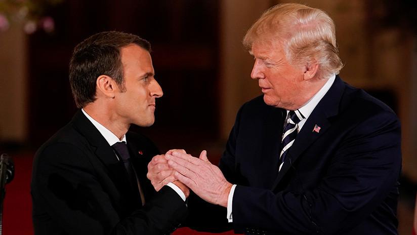 """""""Se acabó la historia de amor"""": Macron dice que ya no confía en EE.UU. (¿Volverá con Rusia?)"""