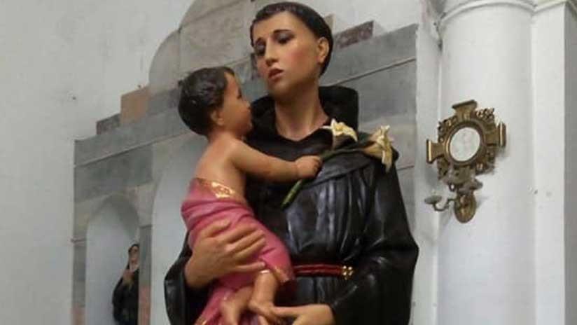 Restauran la estatua de un santo en Colombia y ahora se parece a una mujer (FOTO)