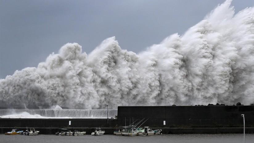 Japón, golpeado por el tifón Jebi, el más fuerte en 25 años