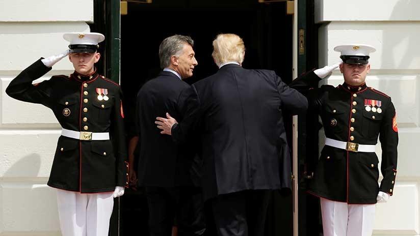 """Trump expresa su """"firme apoyo"""" a Argentina frente a la crisis"""
