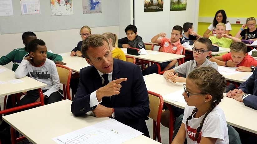 Niños y adolescentes franceses regresaron a las clases, pero sin celulares